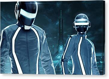Daft Punk - 1026 Canvas Print by Jovemini ART