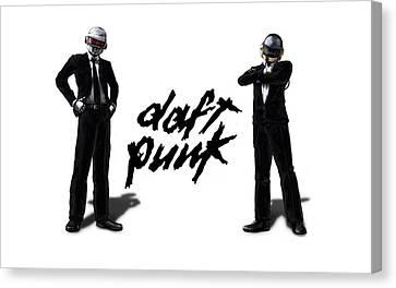Daft Punk - 132 Canvas Print by Jovemini ART