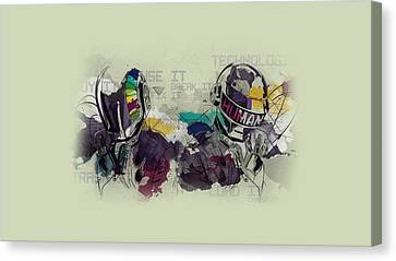 Daft Punk Painting - 445 Canvas Print by Jovemini ART