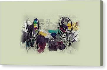 Daft Punk Painting - 445 Canvas Print by Jovemini ART