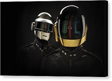 Daft Punk - 639 Canvas Print by Jovemini ART