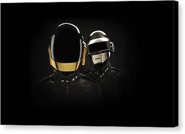 Daft Punk - 694 Canvas Print by Jovemini ART