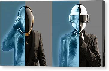 Daft Punk - 824 Canvas Print by Jovemini ART