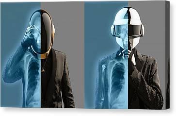 Daft Punk - 824 Canvas Print by Jovemini ART