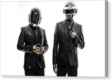 Daft Punk - 955 Canvas Print by Jovemini ART