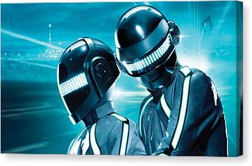 Daft Punk Canvas Print - Daft Punk - 98 by Jovemini ART