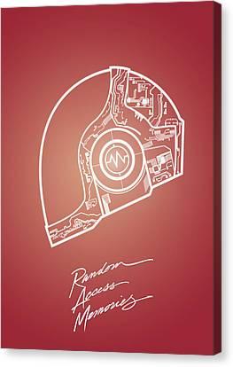 Daft Punk Canvas Print - Daft Punk Guy Manuel Poster Random Access Memories Digital Illustration Print by Lautstarke Studio