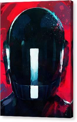 Daft Punk Canvas Print - Daft Punk II by Mortimer Twang