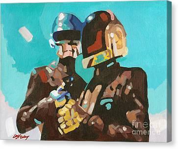 Daft Punk Canvas Print - Daft Punk by Lorna Marie Stephens
