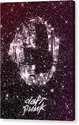 Daft Punk Canvas Print - Daft Punk Poster Helmets Print Space Stars Random Access Memories Disco Retro Digital Print by Lautstarke Studio