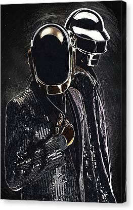 Daft Punk Canvas Print - Daft Punk by Semih Yurdabak