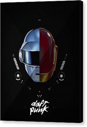 Daft Punk Canvas Print - Daft Punk by Srdjan Petrovic
