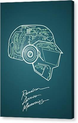 Daft Punk Canvas Print - Daft Punk Thomas Poster Random Access Memories Digital Illustration Print by Lautstarke Studio