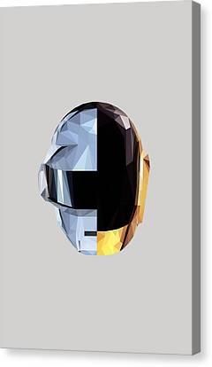 Daft Punk Canvas Print - Daftpoly by Juan Sierra
