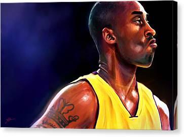 Kobe Canvas Print - Daggers by Jack Perkins