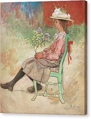 Dagmar Canvas Print by Carl Larsson