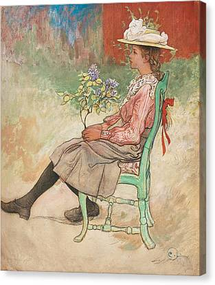 Dagmar Grill Canvas Print by Carl Larsson