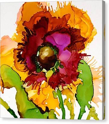 Dahlia Daze Canvas Print by Marla Beyer