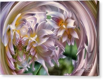 Dahlia Ecstasy Canvas Print by Mary Lou Chmura