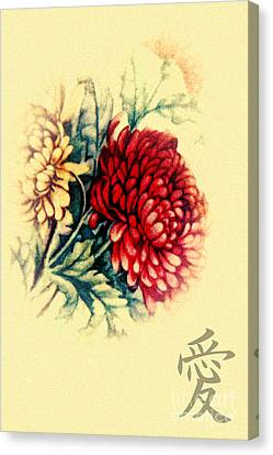 Dahlias Canvas Print by Lali Kacharava