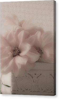 Dahlias Oh So Soft Canvas Print