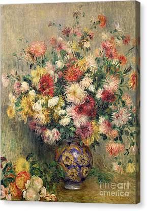 Dahlias Canvas Print by Pierre Auguste Renoir