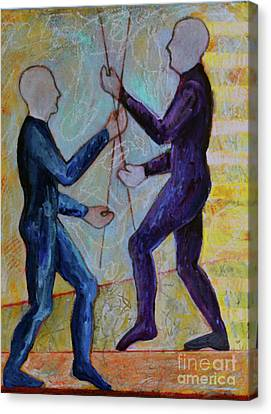 Canvas Print featuring the painting Daily Balancing by Priti Lathia