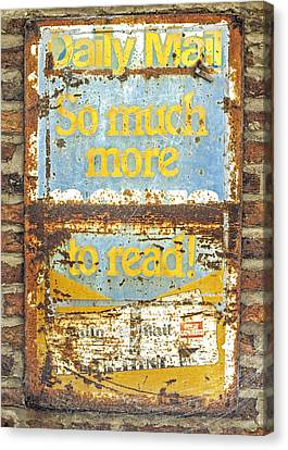 Daily Mail....vintage Sign Canvas Print by Hal Halli
