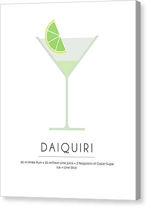 Daiquiri Classic Cocktail Minimalist Print Canvas Print