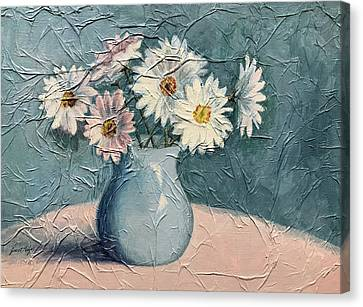 Daisies Canvas Print by Janet King