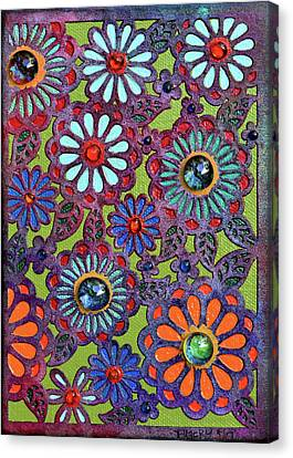 1960 Canvas Print - Daisies Of Terabithia by Donna Blackhall