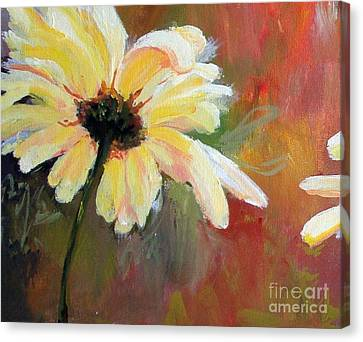 Canvas Print featuring the painting Daisy 1 Of 3 Triptych by Susan Fisher