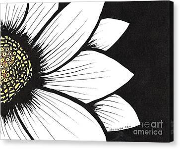Daisy 2 Canvas Print by Billinda Brandli DeVillez