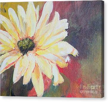 Canvas Print featuring the painting Daisy 3 Of 3 Triptych by Susan Fisher