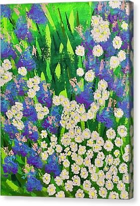 Daisy And Glads Canvas Print