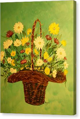 Canvas Print featuring the painting Daisy by Barbara Hayes