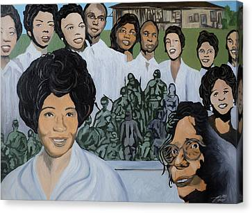 Daisy Bates And The Little Rock Nine Tribute Canvas Print by Angelo Thomas