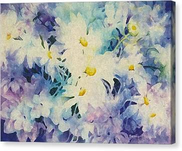 Daisy-chain Canvas Print by Nancy Newman