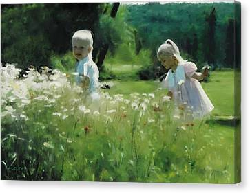 Daisy Field Of Innocents Canvas Print by Elzire S