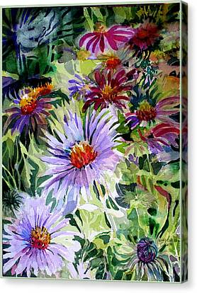 Daisy Garden Canvas Print by Mindy Newman
