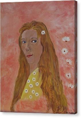 Daisy Girl Canvas Print by Aleta Parks