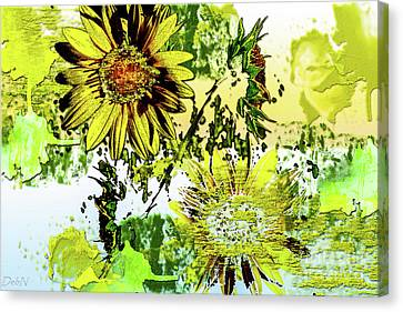 Sunflower On Water Canvas Print