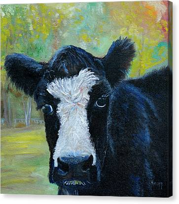 Daisy The Cow Canvas Print by Kathy Knopp