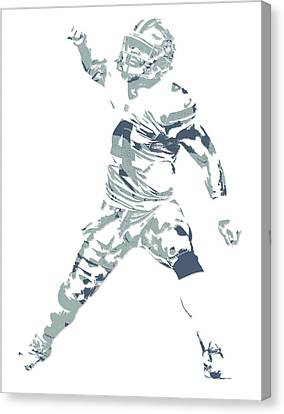 Prescott Canvas Print - Dak Prescott Dallas Cowboys Pixel Art 10 by Joe Hamilton