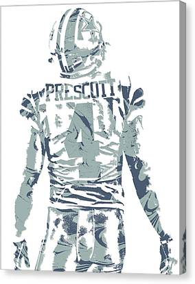 Prescott Canvas Print - Dak Prescott Dallas Cowboys Pixel Art 12 by Joe Hamilton