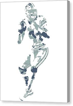 Prescott Canvas Print - Dak Prescott Dallas Cowboys Pixel Art 13 by Joe Hamilton