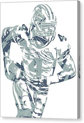 Prescott Canvas Print - Dak Prescott Dallas Cowboys Pixel Art 14 by Joe Hamilton