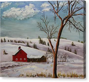 Dakota Winter Canvas Print by Alan Mager