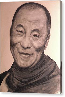 Dalai Lama Canvas Print by Adrienne Martino