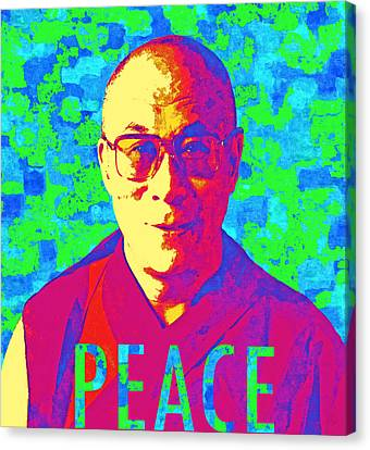 Dalai Lama - Retro Pop Art, Peace Canvas Print